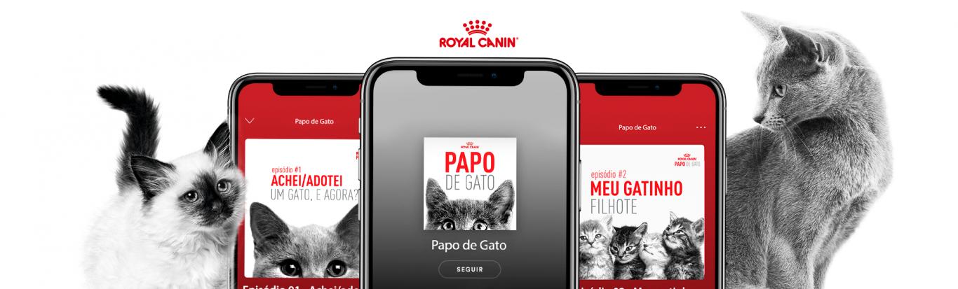 imagem embutida no texto do case: Papo de Gato - Royal Canin